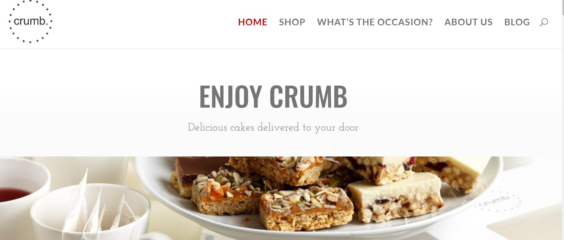 Enjoy Crumb Online Shop Delivering Afternoon Tea Cake Boxes